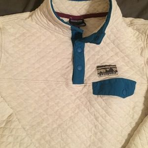 Patagonia Organic Cotton Quilt Snap T Pullover!